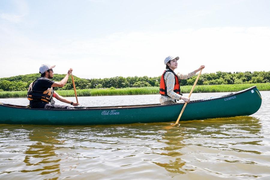 ラムサール条約登録湿地・濤沸湖をカヤック・カヌーで水上からめぐるエコツアー